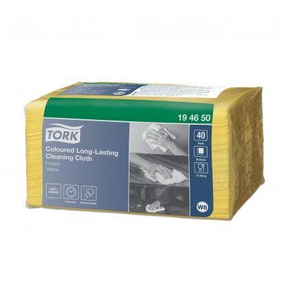 Tork Pano de Limpeza de Longa Duração Amarelo W8