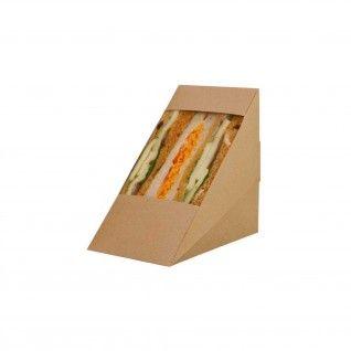 Embalagem p/ Sandwich c/ Janela Grande 123 x 82 x 123 mm